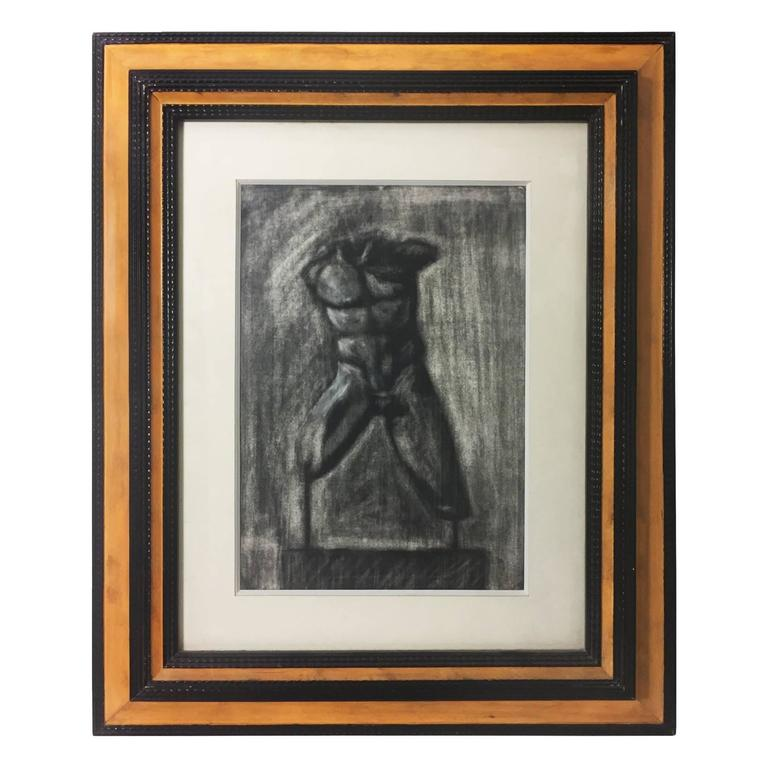 Charcoal Drawing of Male Torso 1