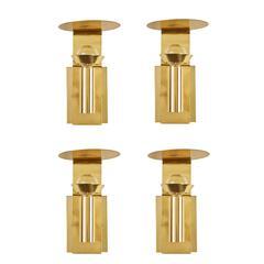 Four Brass Swedish Sconces by Focus Design
