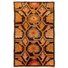 Antique Tibetan Art Deco Rug
