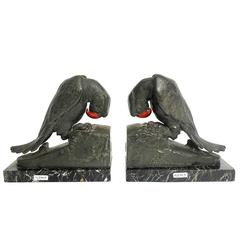 Pair of French Art Deco Bookends by George Van De Voorde, France, circa 1925