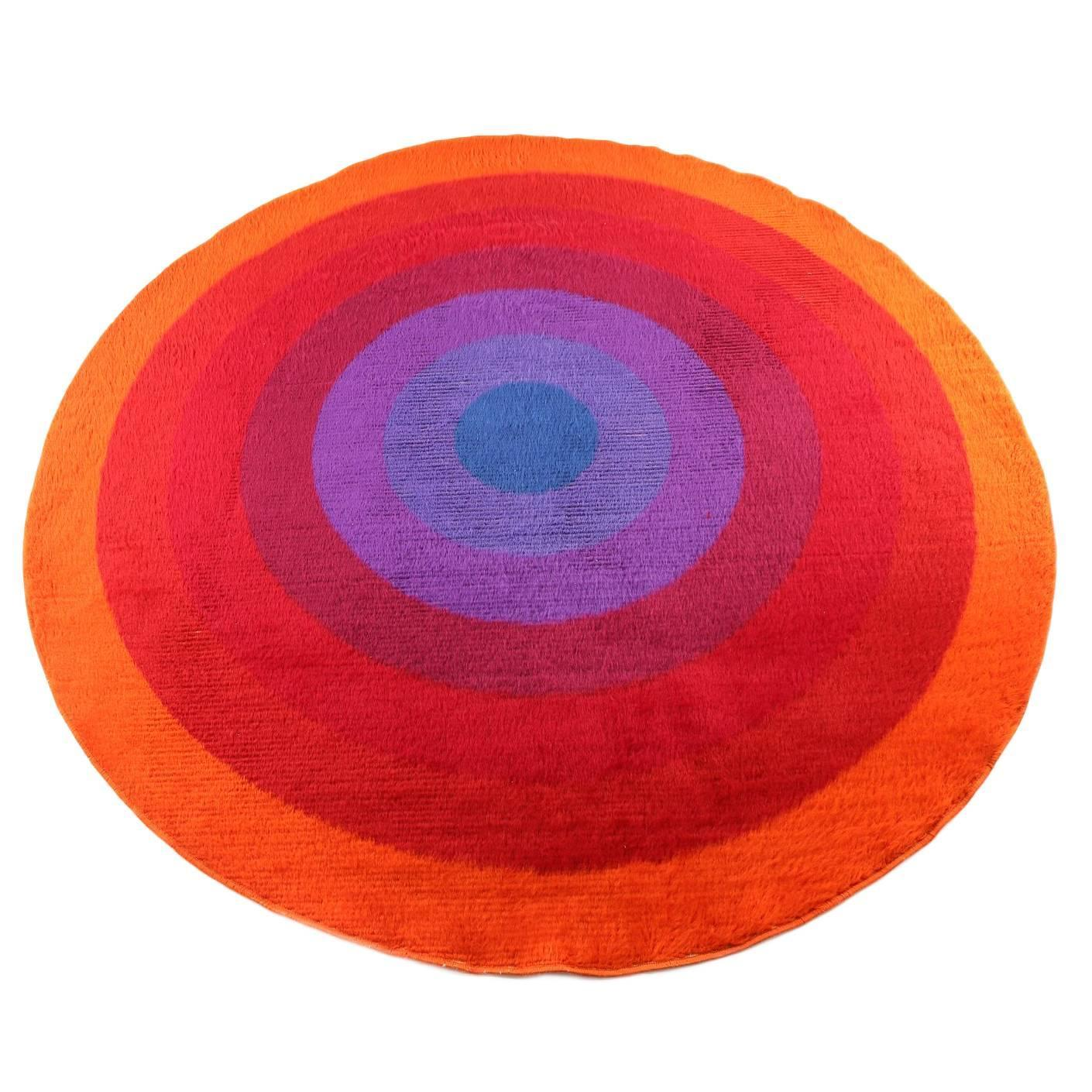 rare verner panton mira romantica largescale rug for sale at stdibs -