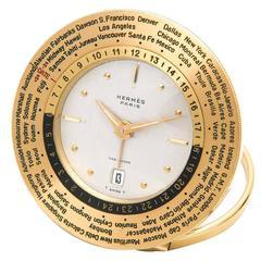 Rare Hermes World Time Clock