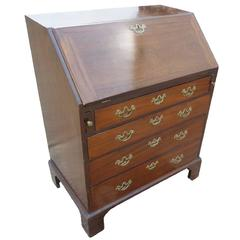 18th Century Red Walnut Bureau of Small Proportions