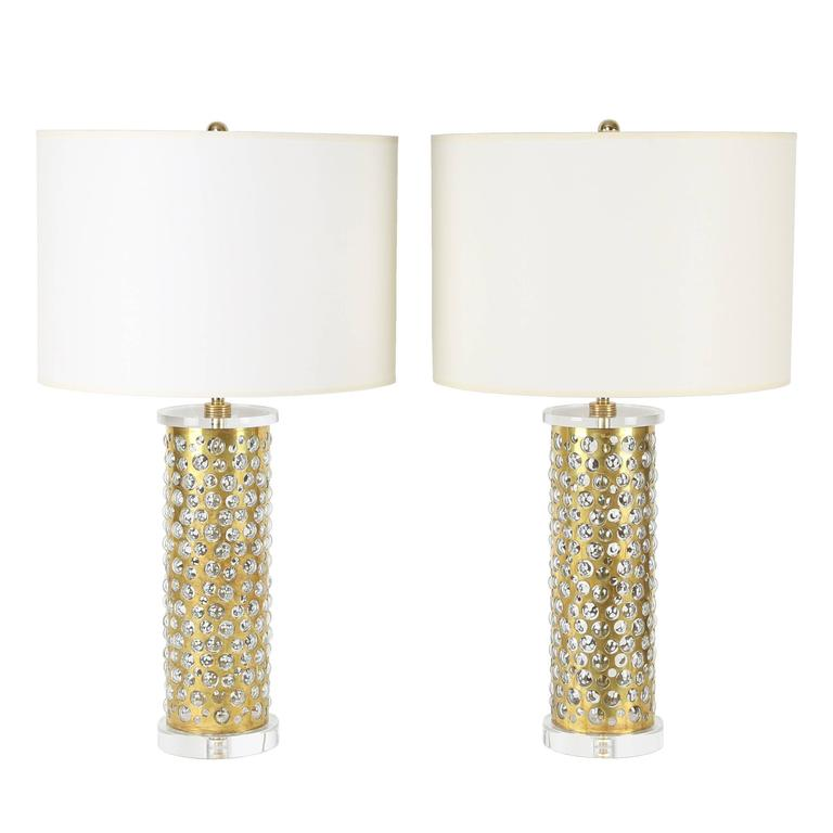 Pair of brass and glass bubble table lamps by rupert nikoll circa pair of brass and glass bubble table lamps by rupert nikoll circa 1950s for sale aloadofball Gallery