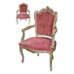 19th Century Pair of Italian Armchairs