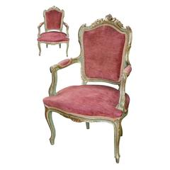 19th Century Pair of Italian Armchairs