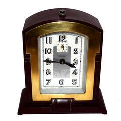 1930s Art Deco JAZ Bakelite Mantle Clock