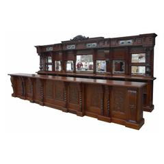 Carved Oak Front and Back Bar
