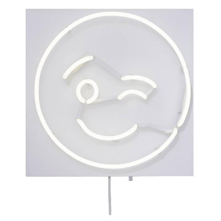 Fresh Faces for Inside Spaces Neon Wall Hanging by Lit, Alice Taranto Wink ;)