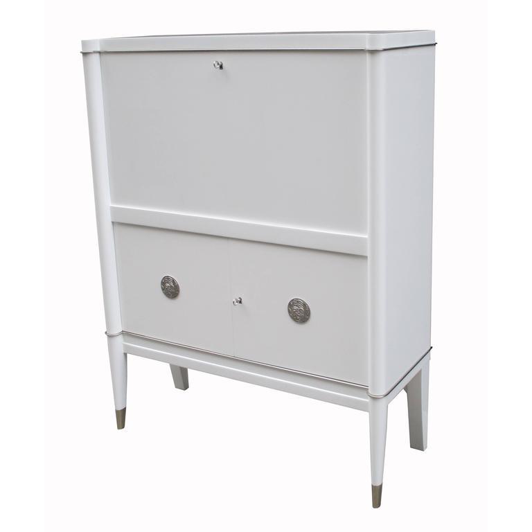 Custom Lacquered De Coene Fréres Bar Cabinet For Sale