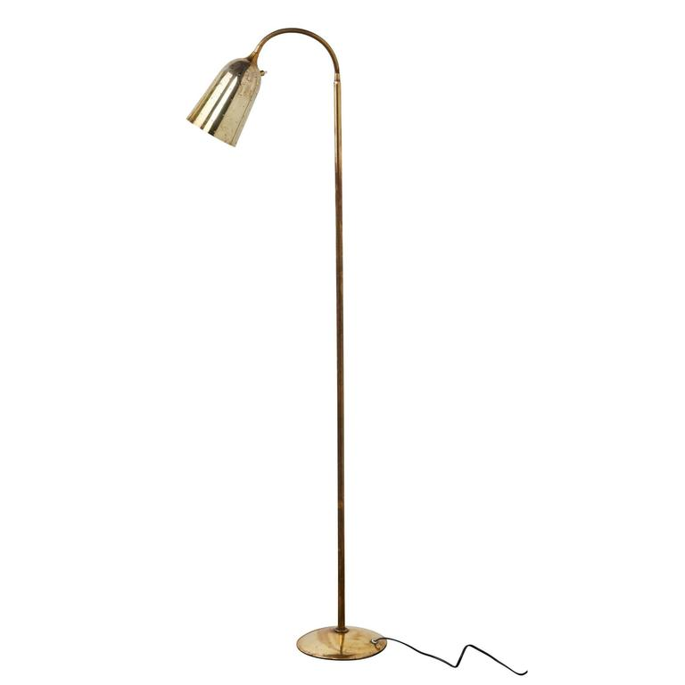Brass Floor Lamp by Paavo Tynell
