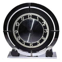 English 1930s Art Deco Modernist Clock by Temco