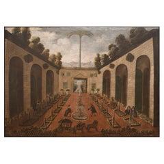 Patio Interior Del Palacio Del Virrey Del Peru en Lima