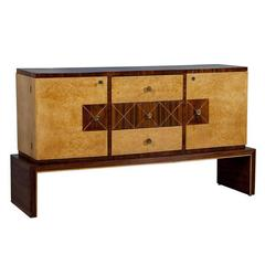 Art Deco Style Birds Eye and Rosewood Buffet