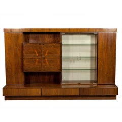 French, Mid-Century Modern Rosewood Wall Unit