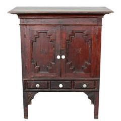 Southeast Asian Side Chest with Three Drawers