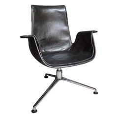 "Fabricius ""Bird"" Desk Chair with Three Legged Base"