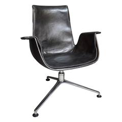 "Fabricius ""Bird"" Desk Chair with Three Legged Base"