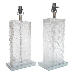 Modern Ice Cube Glass Table Lamps