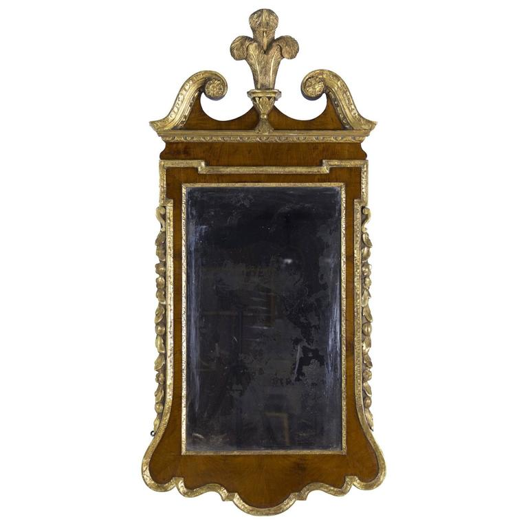 Chippendale 'George III' Mahogany and Giltwood Looking Glass/Mirror