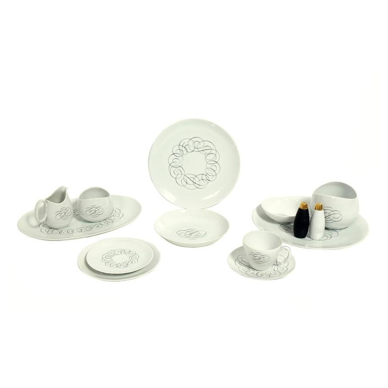 Raymond Loewy Script Pattern for Rosenthal Continental 74-Piece China Set