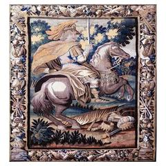 Aubusson Antique Tapestry, 18th Century, Alexander the Great