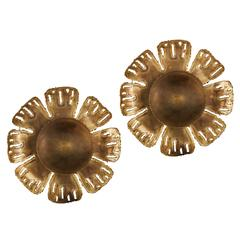 Pair of Brass Ceiling or Wall Lights by Svend Aage Holm-Sorensen & Co
