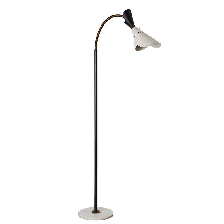 Italian Floor Lamp with Articulating Shade