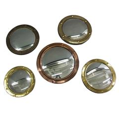 Collection of 1920s Convex Mirrors
