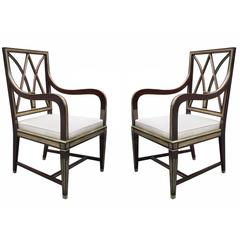 Very Fine Pair of Neoclassical Armchairs