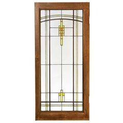 Elmslie Leaded Prairie Flower Cabinet Doors, circa 1920
