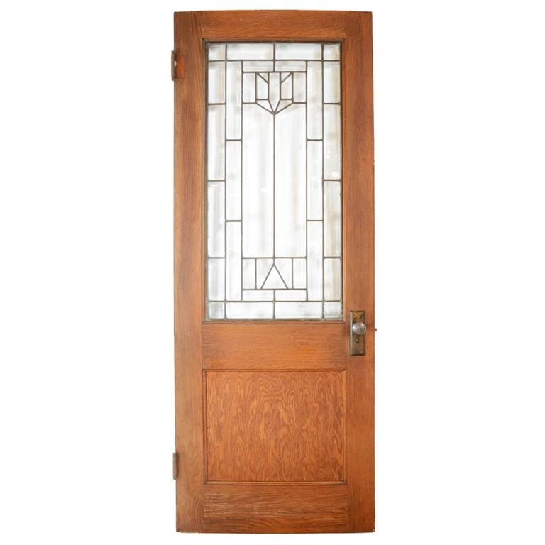 Oak Door With Beveled Glass Circa 1910 At 1stdibs