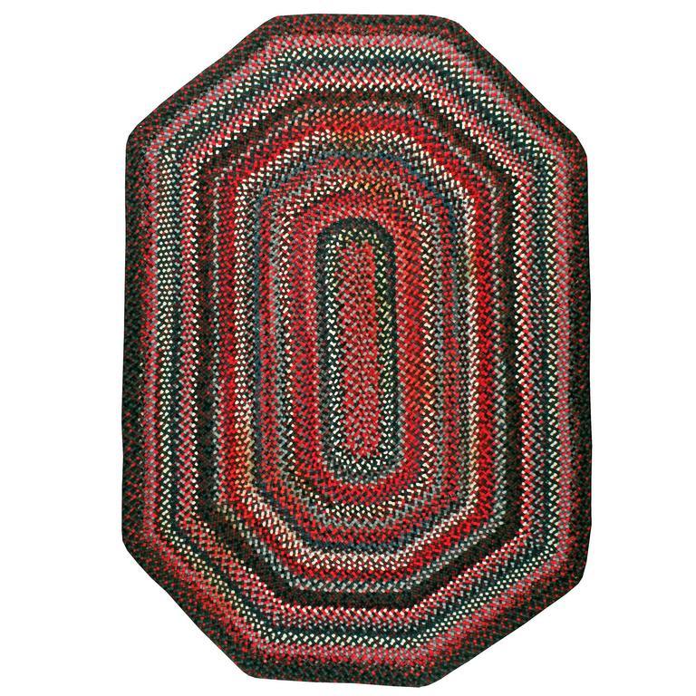 Vintage American Braided Rug For Sale At 1stdibs