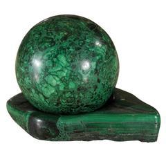 Malachite Ball on Stand Paperweight