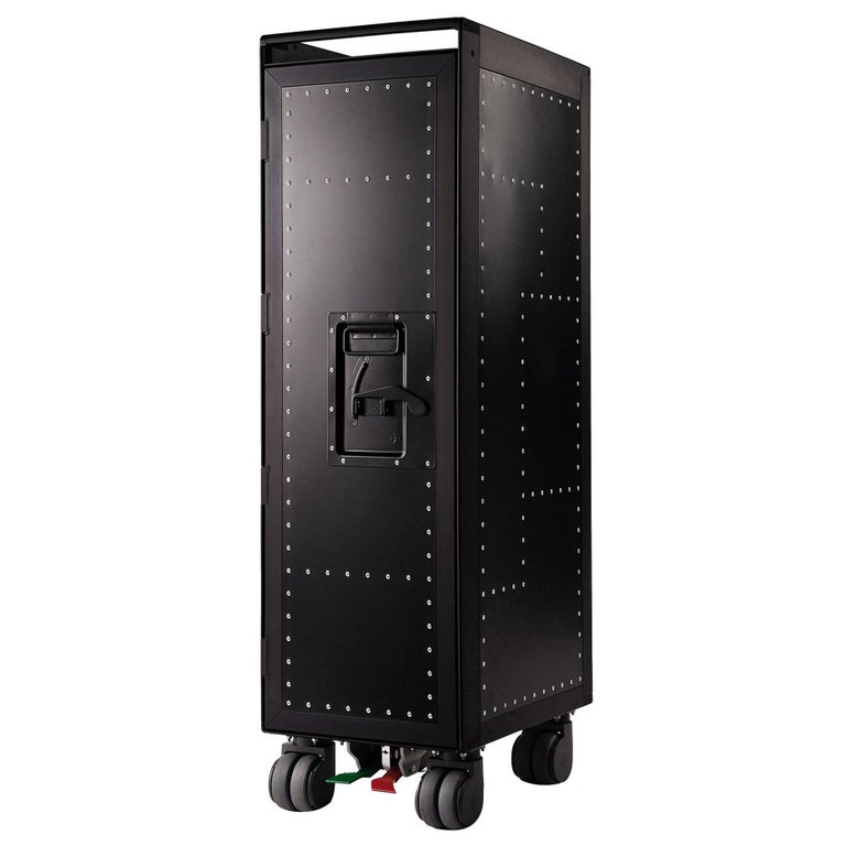 Black Rivet Aircraft Bar Trolley For Sale
