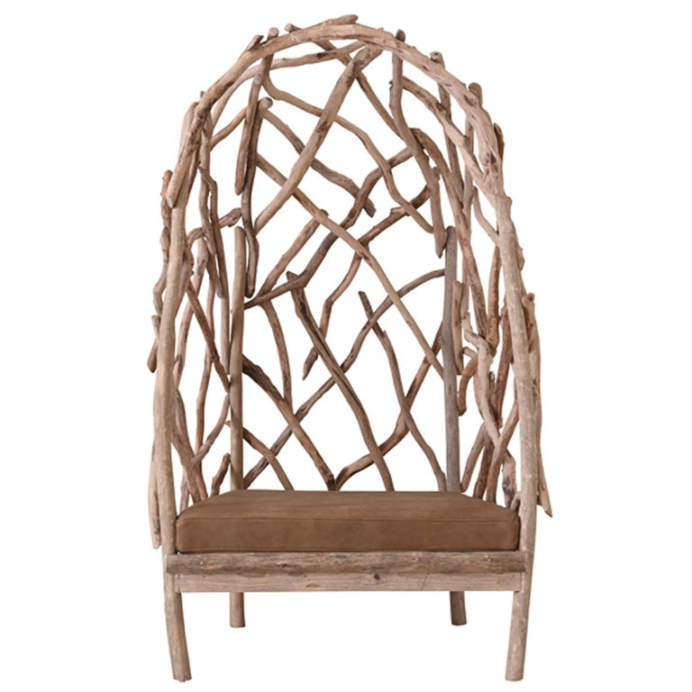 Robinson Bergère Chair in Driftwood