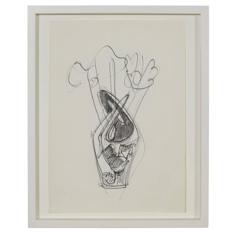 "Gio Ponti Drawing ""Vasi Incrociati"", Italy, 1950 For Sale"
