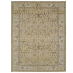 Antique Look Hand-Knotted Agra Design Rug