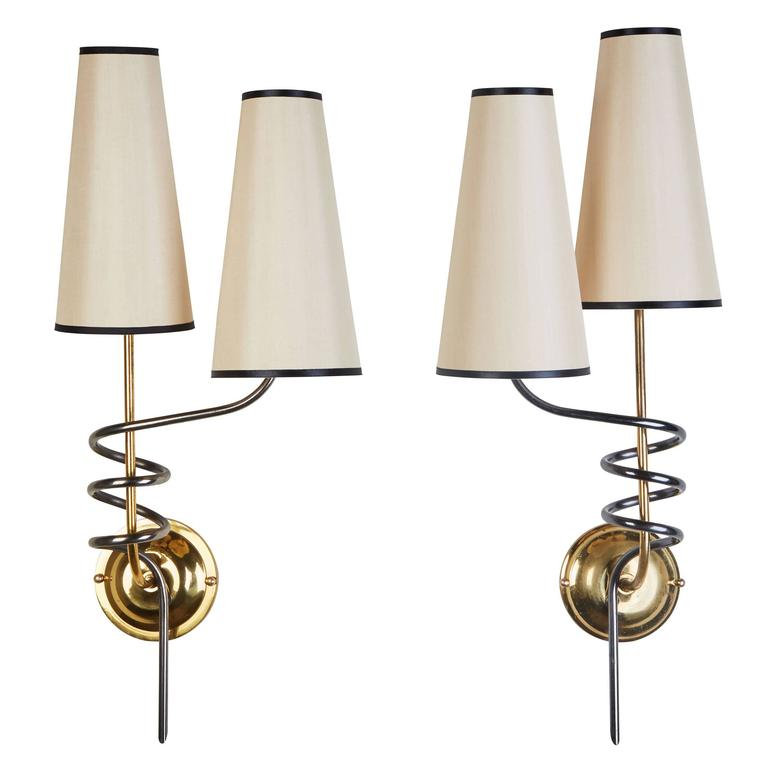Pair of Sconces by Maison Arlus 1