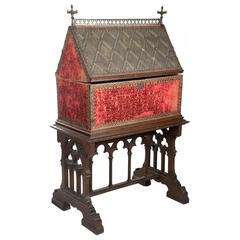 19th Century Gothic Chasse on Oak Stand