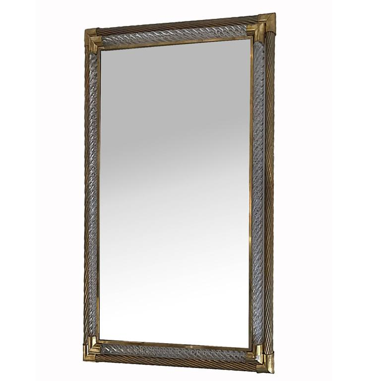 Barovier large and rectangular mirror circa 1960 for sale for Miroir marron