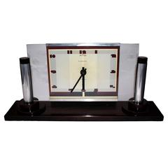 Impressive Modernist Art Deco Clock by Ato, circa 1929