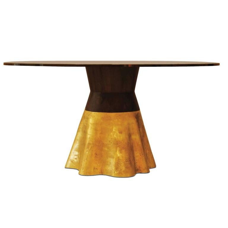 """21st Century Round Cast Bronze """"Tavola 9"""" Dining Table from Costantini  For Sale"""