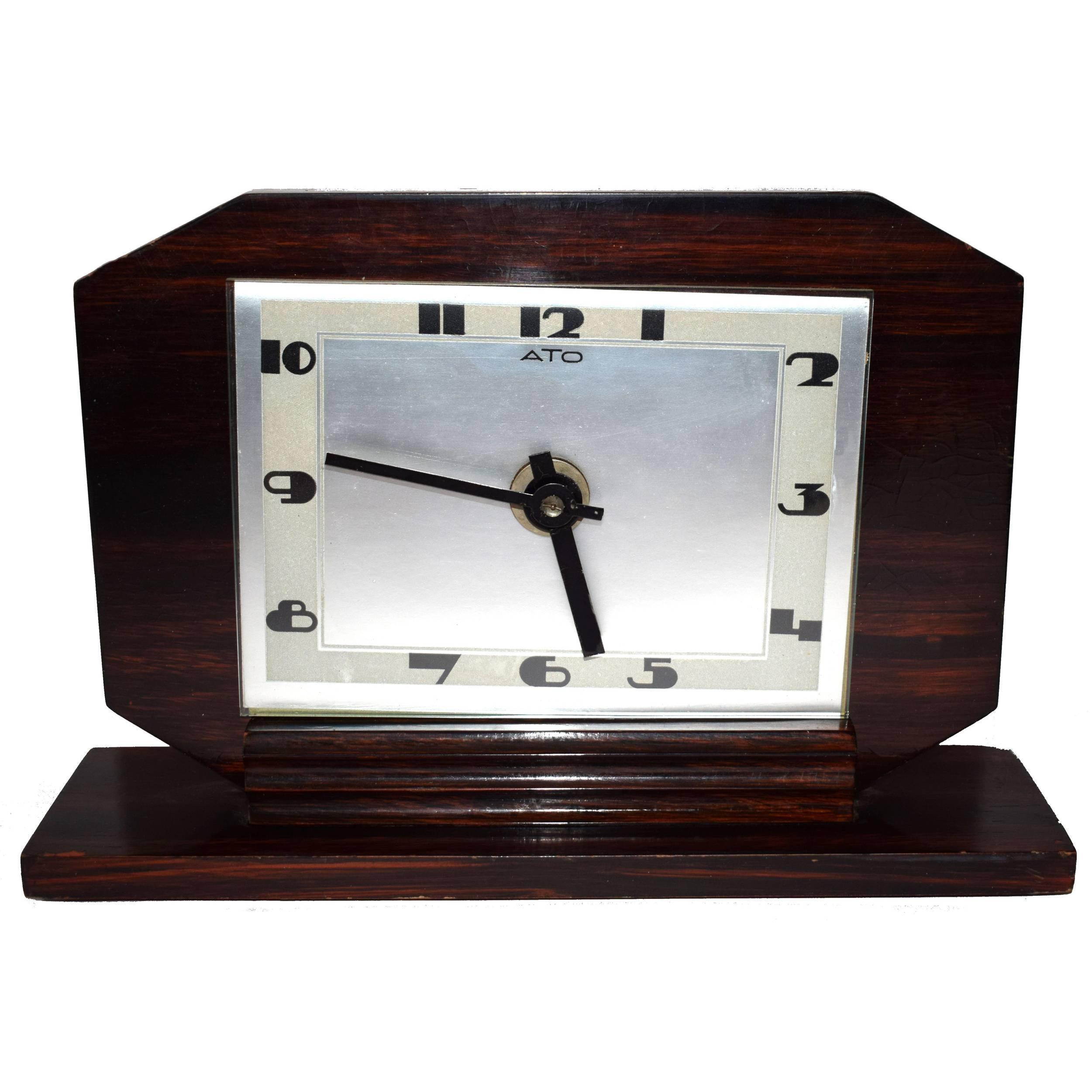1930s Art Deco Modernist Clock by ATO