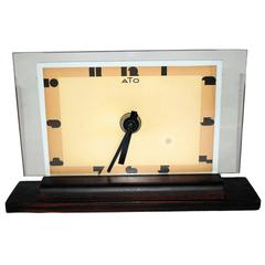 1930s Art Deco Modernist Clock by ATO