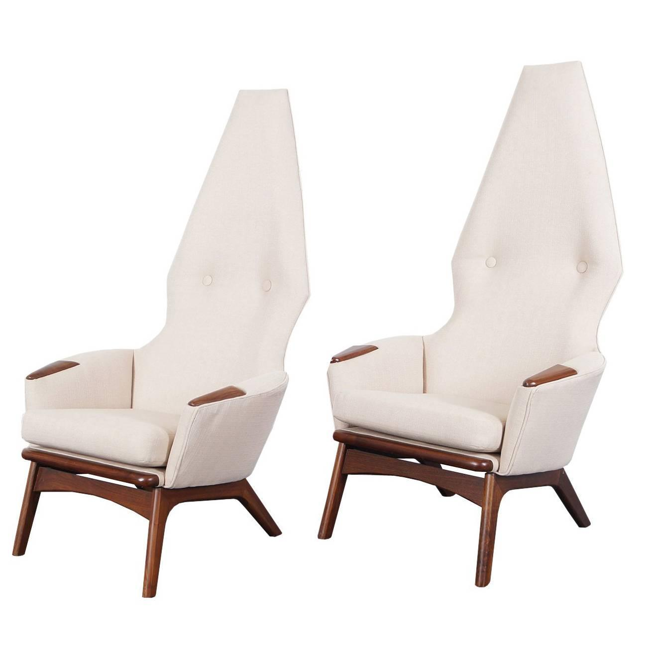 Vintage High Back Lounge Chairs By Adrian Pearsall For Sale At 1stdibs