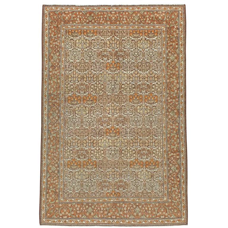 Vintage Persian Mashad Rug For Sale