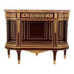 Neoclassical Style Desserte Console Table by Henry Dasson