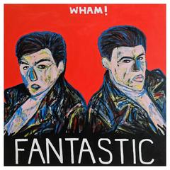'Wham! Fantastic' Portrait Painting by Alan Fears Album Art