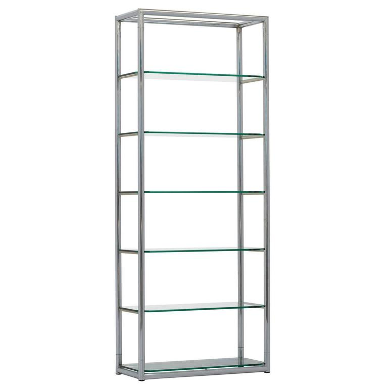 Mid century chrome and glass etagere standing shelving unit by selig for sale - Etagere cases carrees ...